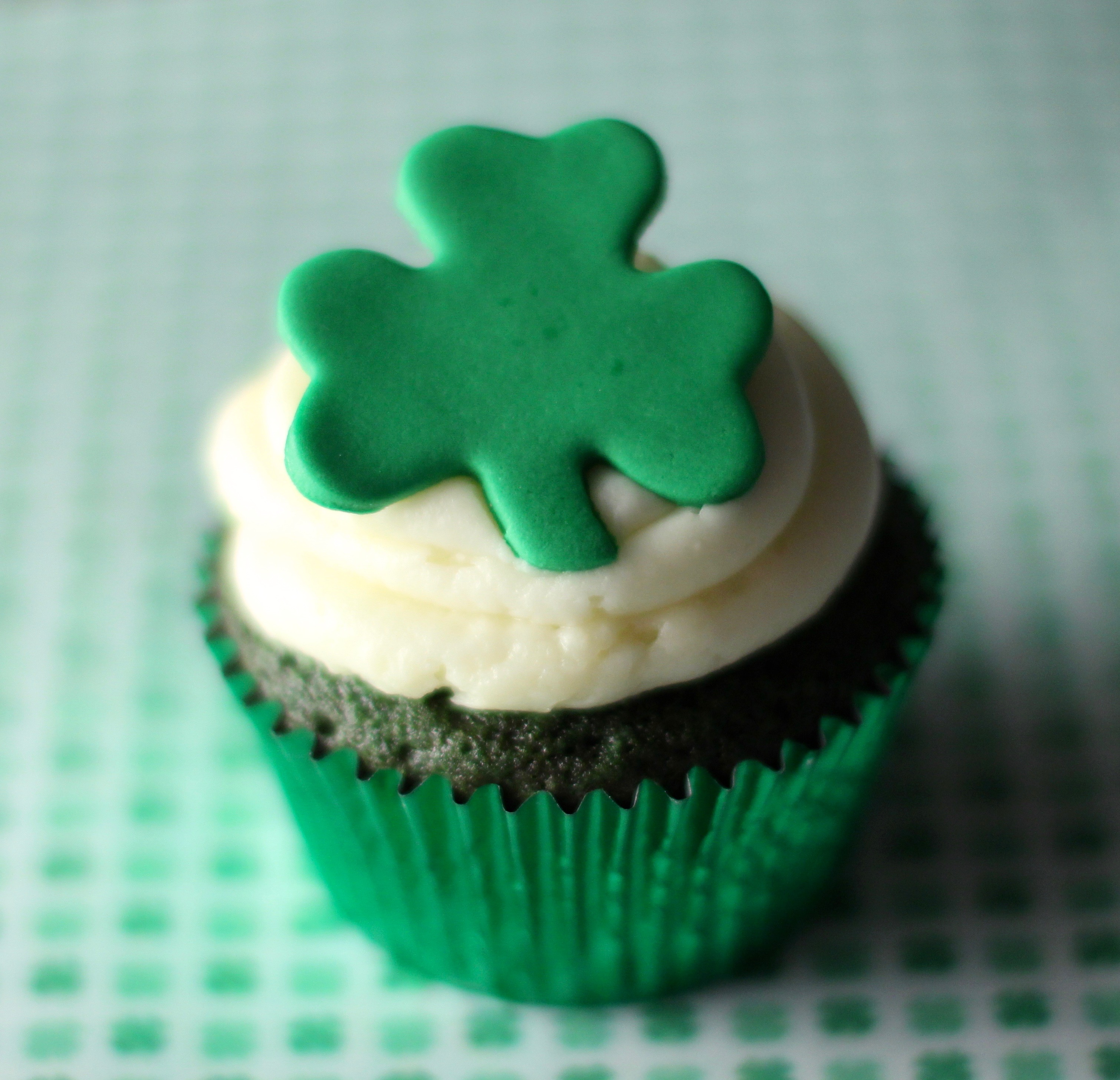 Saint Patricks Day Green Velvet Cupcake