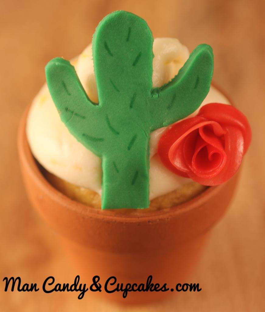 Cactus cupcake