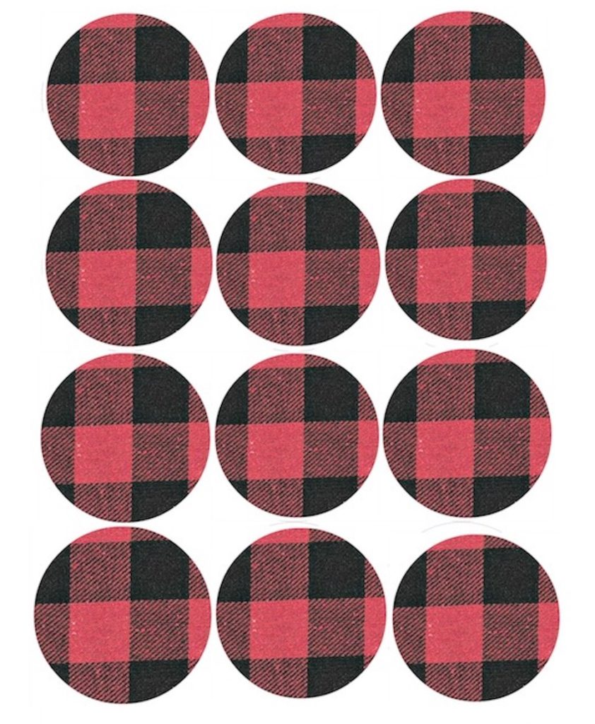 Plaid cupcake toppers